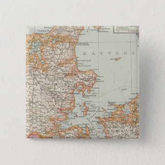 Danemark - Denmark Map 15 Cm Square Badge