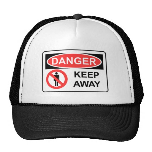danger21 DANGER Keep Away Mesh Hats