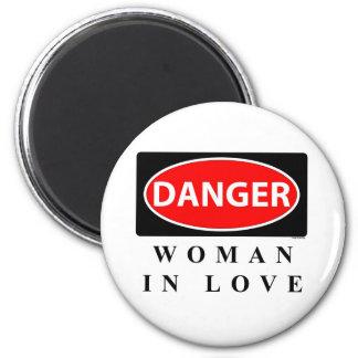 danger3 6 cm round magnet