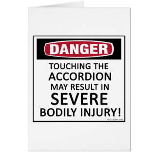 Danger Accordion Card