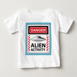 Danger Alien Activity Warning Sign Vector Tee Shirts