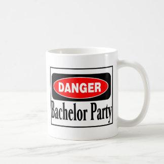 Danger Bachelor Party Basic White Mug