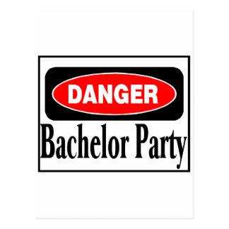 Danger Bachelor Party Postcard