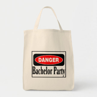Danger Bachelor Party Canvas Bag