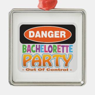 danger bachelorette party bridal shower crazy wild christmas ornament