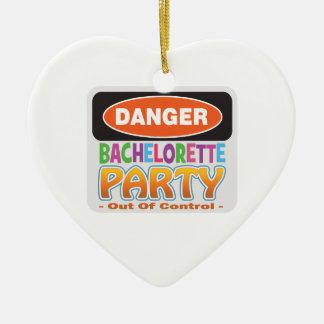 danger bachelorette party bridal shower crazy wild christmas tree ornaments