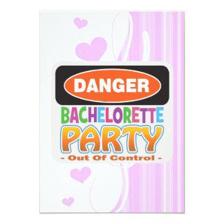 Danger bachelorette party funny bridal party 13 cm x 18 cm invitation card