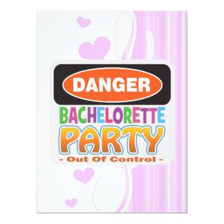 Danger bachelorette party funny bridal party 17 cm x 22 cm invitation card