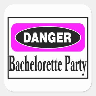 Danger Bachelorette Party Square Sticker