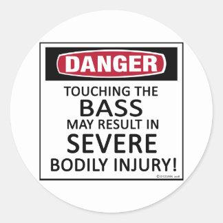 Danger Bass Round Sticker
