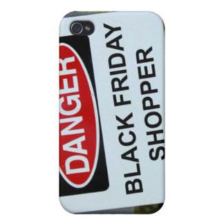 Danger Black Friday Shopper sign iPhone 4 Cover