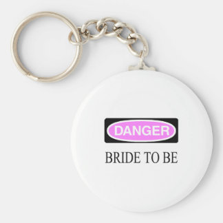 Danger (Bride To Be) Basic Round Button Key Ring