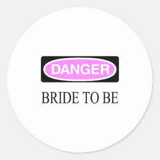 Danger (Bride To Be) Round Sticker