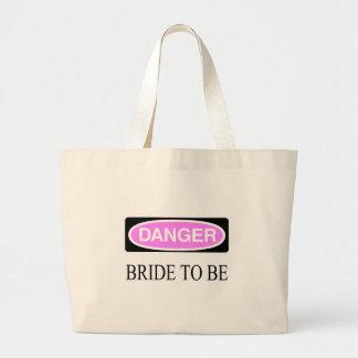 Danger (Bride To Be) Jumbo Tote Bag