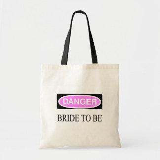 Danger (Bride To Be) Budget Tote Bag