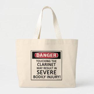 Danger Clarinet Large Tote Bag