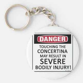 Danger Concertina Basic Round Button Key Ring