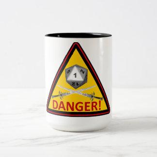 DANGER! Crit Fail Two-Tone Coffee Mug