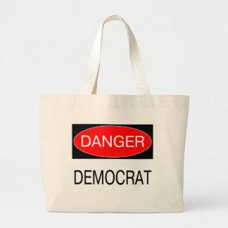 Danger - Democrat Funny Political T-Shirt Mug Hat Large Tote Bag
