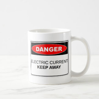 Danger Electric Current Basic White Mug