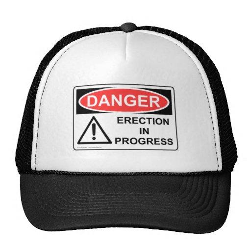 DANGER Erection In Progress Mesh Hats