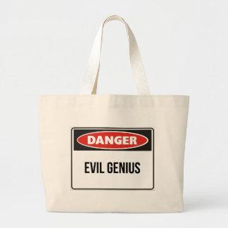 Danger - Evil Genius Tote Bags