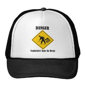 Danger Explosive Gas In Rear Hat