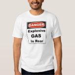 Danger Explosive Gas In Rear T-shirts