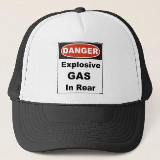Danger Explosive Gas In Rear Trucker Hat