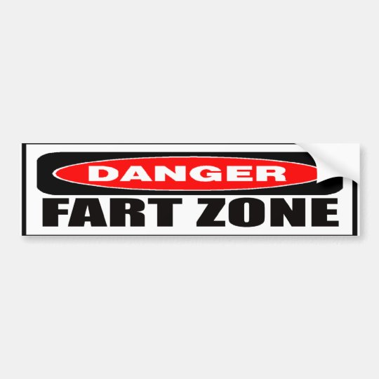 Danger Fart Zone Bumper Sticker