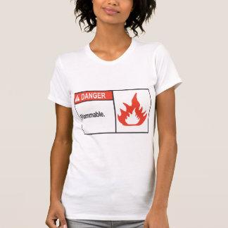 Danger Flammable Sign Womens T-Shirt