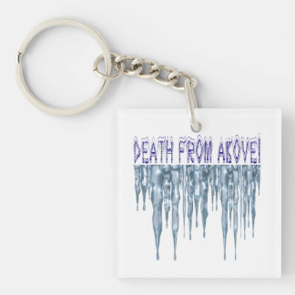 Danger From Above Single-Sided Square Acrylic Key Ring