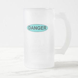 Danger Frosted Glass Mug