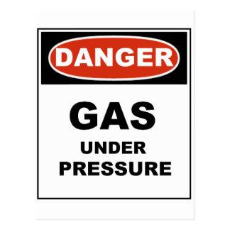 Danger Gas Under Pressure Postcards