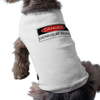Danger Genius at Work Sleeveless Dog Shirt