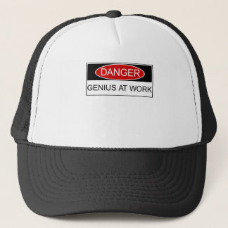 Danger Genius at Work Trucker Hat