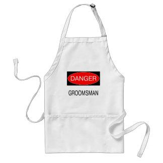 Danger - Groomsman Funny Wedding T-Shirt Mug Hat Standard Apron