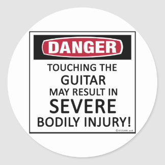 Danger Guitar Classic Round Sticker