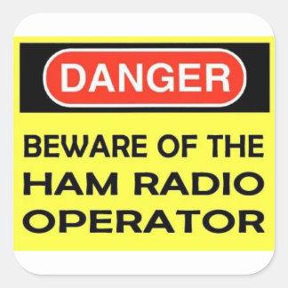DANGER HAM RADIO STICKER