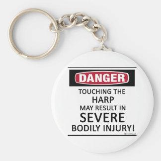 Danger Harp Basic Round Button Key Ring