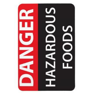Danger Hazardous Foods Magnet