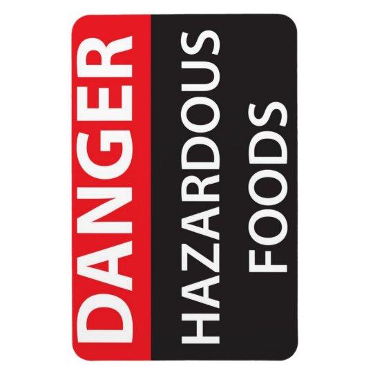 Danger Hazardous Foods Rectangular Photo Magnet
