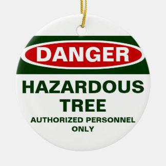 Danger Hazardous Tree Christmas ornament