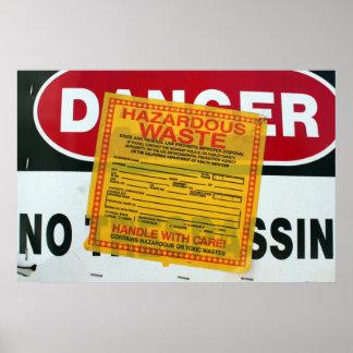 Danger Hazardous Waste Poster