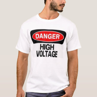 DANGER HIGH VOLTAGE ELECTRICIAN ELECTRICAL T-SHIRT