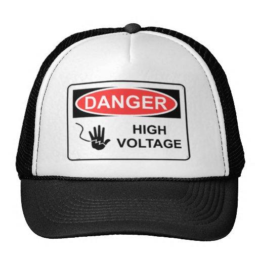 DANGER HIGH VOLTAGE HAT