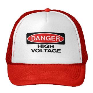 Danger High Voltage Hazard Sign Hat