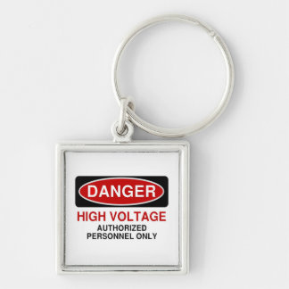Danger High Voltage Key Ring