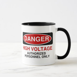 Danger High Voltage Mug