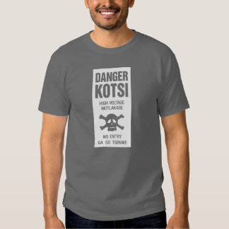 Danger High Voltage Sign, Botswana Shirts